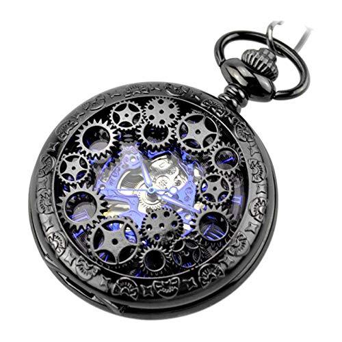kowaku Vintage Steampunk Mechanical Skeleton Fob Relojes de Cuerda Manual, Ropa