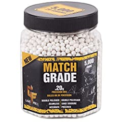 5,000 BIODEGRADABLE MATCH GRADE AIRSOFT BBs WHITE, 6mm, .20-GRAM - Double-polished PATENTED FORMULA BEGINS TO DEGRADE IN 45-DAYS - Leaves no long lasting clutter on the field of play PLASTIC SCREW-TOP JAR - Easy storage, throw it in your backpack, pr...