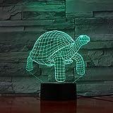 3D Turtle Colors Tischlampe Led Nachtlicht für Kinder Geschenk Wohnkultur Beleuchtung
