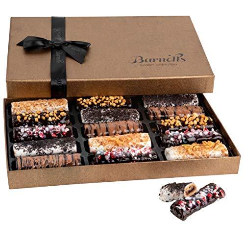 Barnett's Cookies Gourmet Chocolate Covered Hazelnut Wafers   2021...