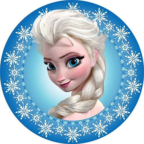 Frozen, ELSA Figüren, Eiskönigin Runde Tortenaufleger Eiskönigin 20CM - Geburtstag Tortenbild Zuckerbild Tortenplatte Oblate Kuchenzuckerplatte