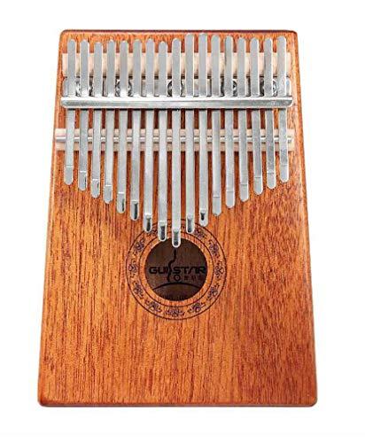 Daumen-Klavier mit 17 Tasten, Musikgeschenk aus Massivholz mit Stimmbuchhammer