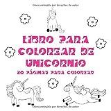 Libro para colorear de unicornio: 20 páginas para colorear (Spanish Edition)