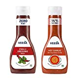 Veeba Hot Garlic stir-Fry Sauce, 330g and Chilli Oregano Sauce, 350g - Pack