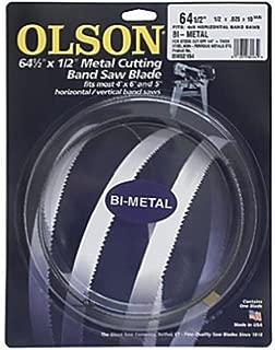 Olson Saw BM82164BL   BI-Metal Band Saw Blade, 1/2 by .025-Inch, 10/14 VARI 64-1/2-Inch