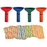 Nadex Easy Wrap Coin Stacking Tubes with 252 Coin Wrappers - Funnel Shaped Color-Coded Coin Roll Sorting Tubes