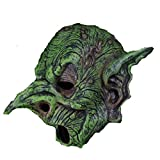 XWYWP Máscara de Halloween de Duende Verde Bruja Máscara de Halloween Cosplay Disfraz de Carnaval Festival Máscara de Cabeza Completa Verde Elfo Miedo Máscara de Bruja Máscara de Fiesta Props