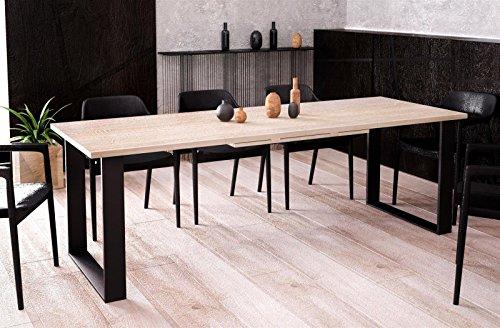 Endo-Moebel Kufentisch Esstisch Cora Sonoma Eiche ausziehbar 130cm - 210cm Küchentisch mit Kufen Design