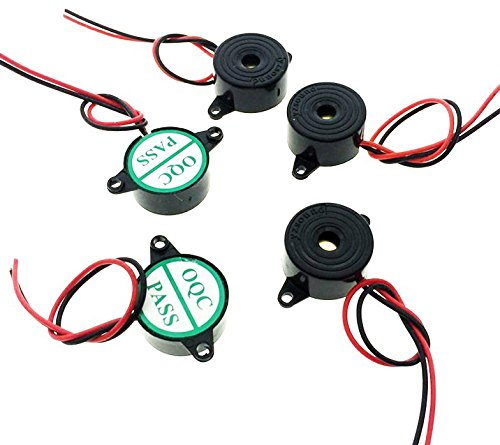DC3-24V 85dB Electronic Alarm Buzzer Mini Active Piezo Industrial Continuous Sound Wired Connector YXQ 3Pcs