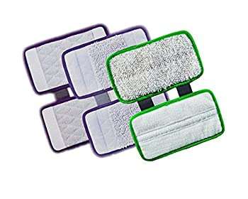 ESC 3 Replacement Pads - carpet cleaning pad and scrub pad  Hard Floor Microfiber  2pc pack  for Shark Sonic Duo XTCRU500