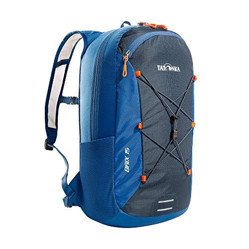 Tatonka Fahrradrucksack Baix 15L - Kleiner, leichter Outdoor-Rucksack mit Helmhalterung und 15 Liter Volumen - Damen und Herren - blau