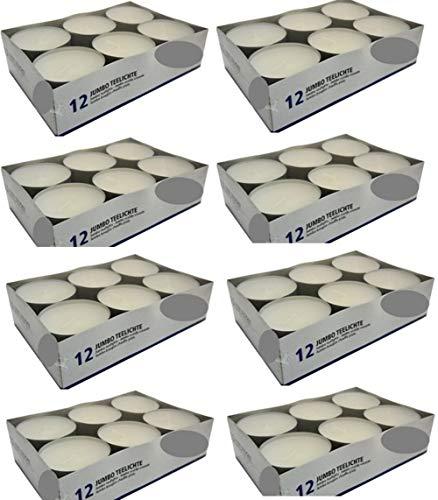 Hillfield® Maxilichte, Maxiteelichte, Jumbo Teelichter (96 Stück)
