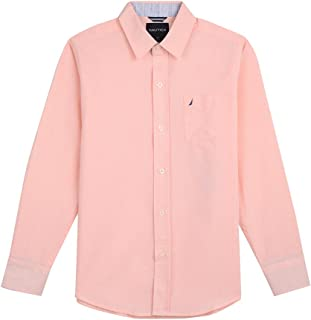 Nautica Baby Boys' Long Sleeve Solid Woven Shirt