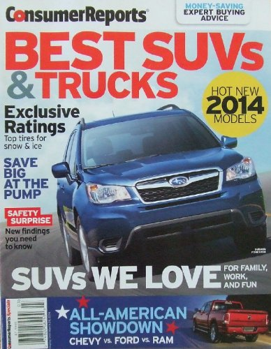 Consumer Reports Best Suvs & Trucks Magazine 2014