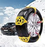 165-285mm catena anti-sci per auto catena per pneumatici versione di aggiornamento portatile catena da neve in TPU catena di sicurezza per pneumatici per auto invernali (giallo,6PCS)