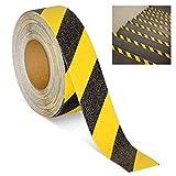 Magnusdeal Anti Slip Floor Tape Hazard Heavy Duty Slip-Skid Adhesive Strips Tape-2Inch (Yellow Black Strip)