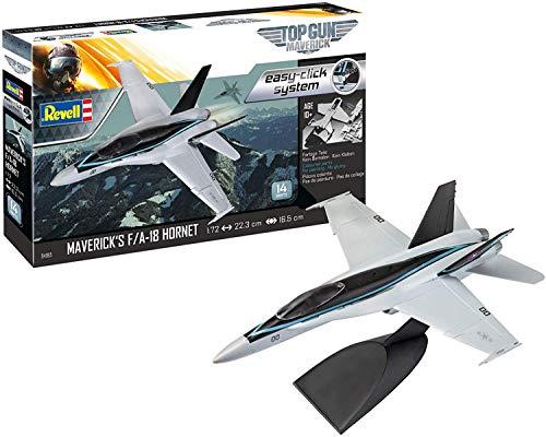 ドイツレベル 1/72 アメリカ海軍 F/A-18 ホーネット トップガン プラモデル 04965