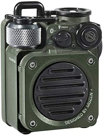 Muzen Wild Mini Rugged Outdoor Speaker Bluetooth Radio Portable Speaker with Louder Volume Crystal product image