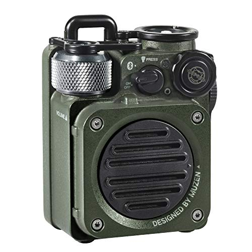 Muzen Wild Mini Rugged Outdoor Speaker, Bluetooth Portable Speaker with Louder Volume, Crystal Clear Sound, Wireless Waterproof Speakers for Travel, Outdoors