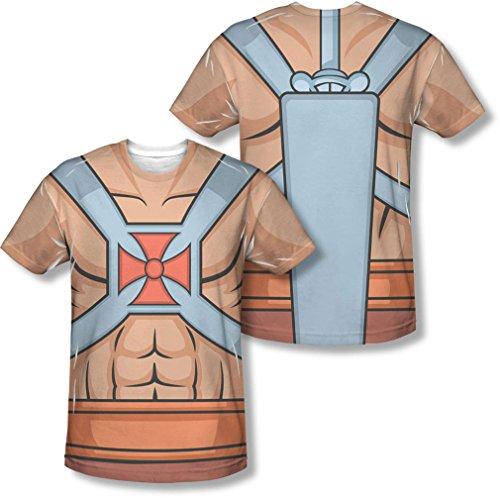 Masters Of The Universe - Costumes Il Man pour hommes (avant / arrière) d'impression T-shirt -, XX-Large, White