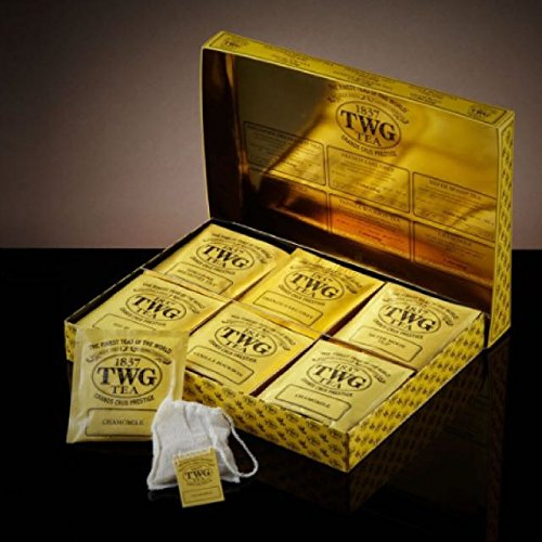 TWG Singapore - The Finest Teas of the World - Tea Taster Collection - 30 Handnaht Teebeutel aus reiner Baumwolle