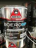boero hp opaco smalto all'acqua ad altissime prestazioni. barriera antisporco ed antigraffio. ottimo per verniciare ferro,legno, plastica,pvc, lamiera zincata etc. finitura opaca