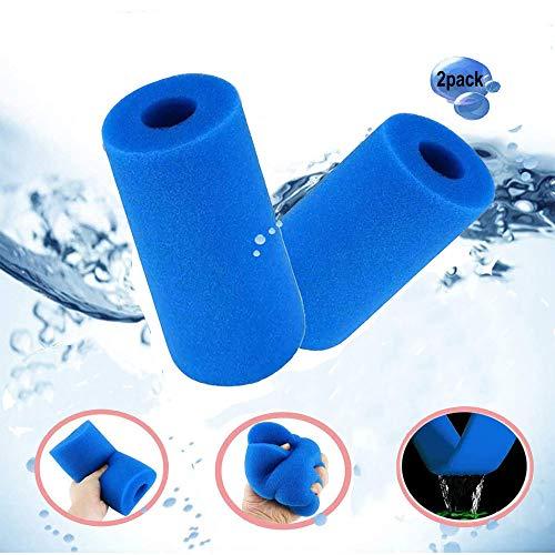 Anyingkai 2 Stücke Filterschwamm, Schwimmbad Filter Schaum Schwamm, Schaum Pool Filter, Vorfilter Schaumstoff, Patronenschwamm, Waschbarer Spa-Filter für Spa, Wiederverwendbare Filterkartuschen
