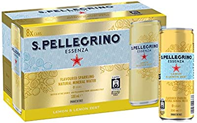 San Pellegrino Sanpellegrino Essenza Lemon & Lemon Zest, 330 ml (Pack of 8)