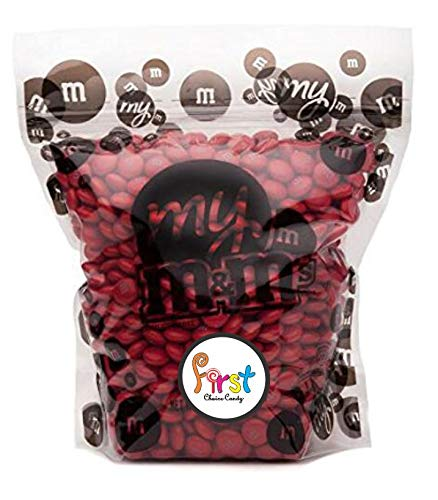 All Color M&M'S Bulk Candy Bag (Red, 2 LB)