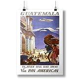 INNOGLEN Guatemala Travel Poster A0 A1 A2 A3 A4 Satin Foto