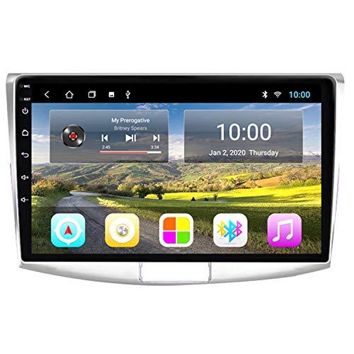 CARACHOME Navigatore GPS per autoradio Android 9 per Volkswagen Passat B7 2010-2015, Display Touch da 9 Pollici, Sistema multimediale per Auto, Supporto Bluetooth, Controllo al Volante,4g&WiFi 4+64g