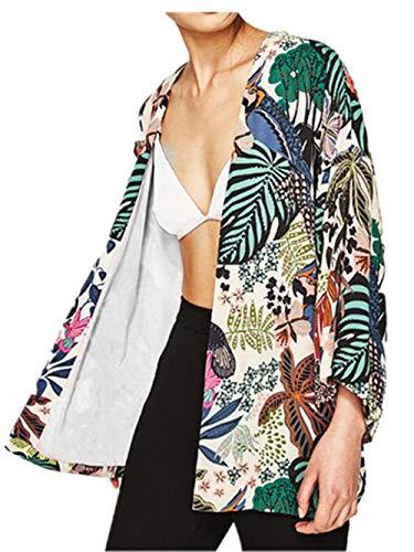 Adelina Dames Jas Trendy Herfst Gedrukt Gedessineerd Bovenkleding Gezellige Lange Mouw Modieuze Completi Losse Casual Jas Elegante Streetwear Swag Outwear