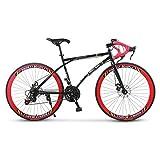 YZJL Vélos Road Hommes Et Les Femmes 24 Vitesses 26 Pouces Vélos De Route Vélos Racing Roues...