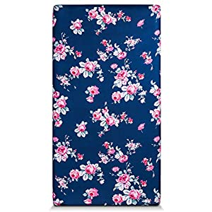 Momcozy Crib Sheet, Ultra Soft Jersey Knit Fitted Crib Sheets Fits Standard Crib and Toddler Mattresses, Floral Nursery Bedding Sheets for Boys and Girls, 28″x 52″x 9″