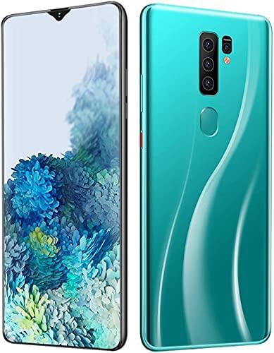 WWJ Smartphone 4G, telefone Celular Desbloqueado com Tela de 7,0', impressão Digital, bateria Grande de 5800 mAh, Slot DualCard Verde