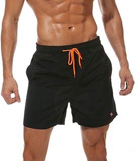 Tansozer Mens Swim Shorts Waterproof Beach Shorts Quick Dry Surfing Shorts with Mesh Lining Swim Trunks