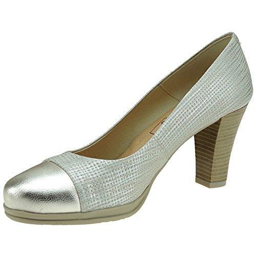 Chamby 4320 Zapato Vestir Planta Gel Tacón 8CM Mujer