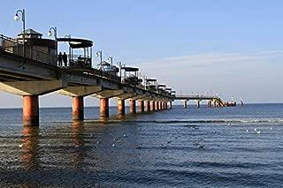 Home Comforts Sea Bridge Poland Bridge Sea Baltic Sea Vivid Imagery Laminated Poster Print 11 x 17