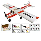 RC EPP Plane Cessna Model 960mm Wingspan Helicopter Drone, 4CH RC Airplane Kit to Build for Adults, DIY Electric Radio Remote Control RC Aeroplane Aircraft for Stable Outdoor Fly (KIT+Motor+ESC+Servo)