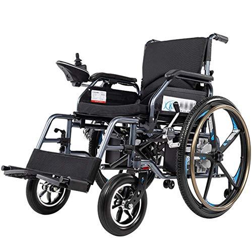 Elektrorollstuhl FaltbaLeicht mit Gren Rdern,360 Grad Joystick LithiumBatterie Elektro Mobilittshilfe Elektrischer Rollstuhl,Leichte Roller,Tragbare ältere behinderte Hilfe Auto