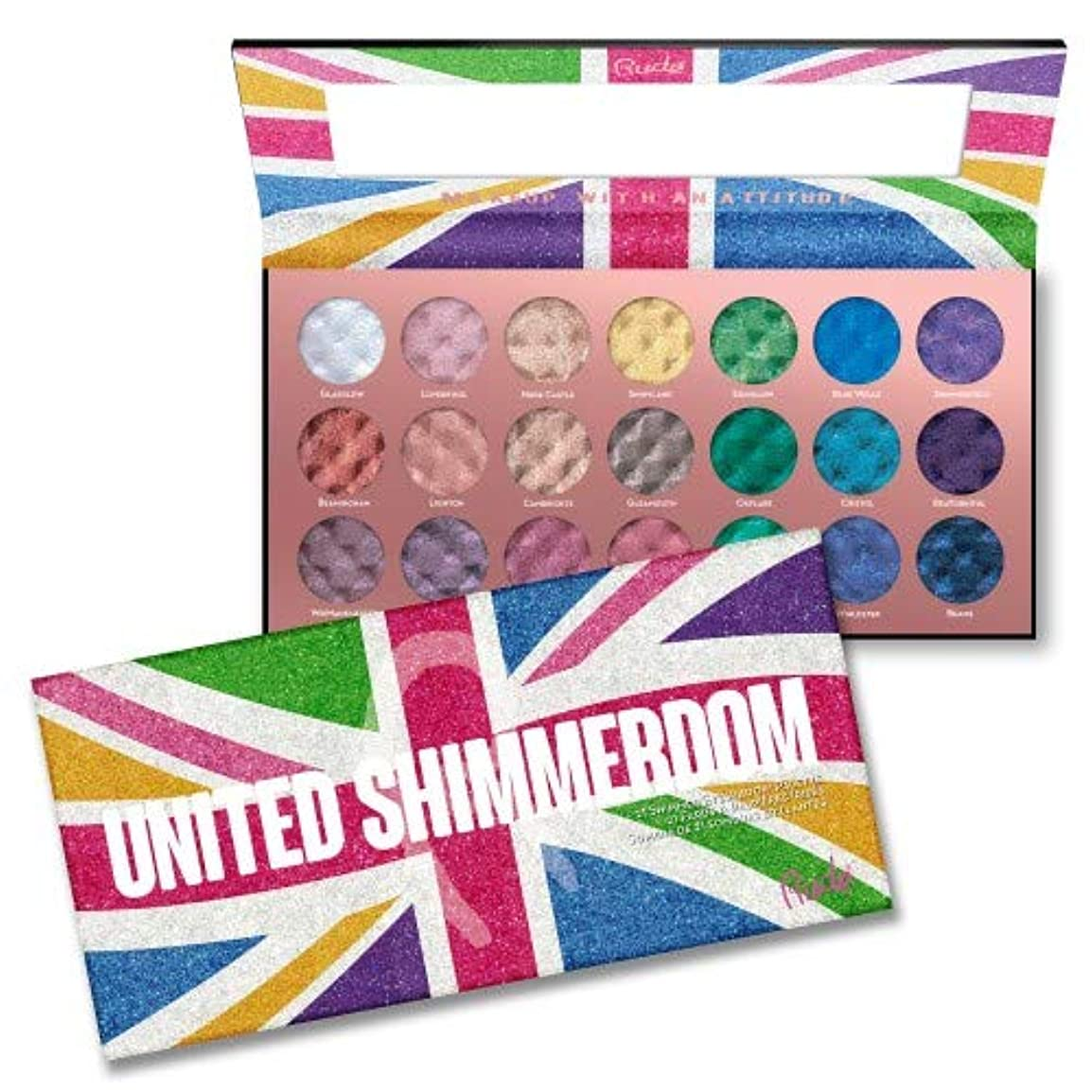 類似性終わり腹(3 Pack) RUDE United Shimmerdom - 21 Shimmer Eyeshadow Palette (並行輸入品)