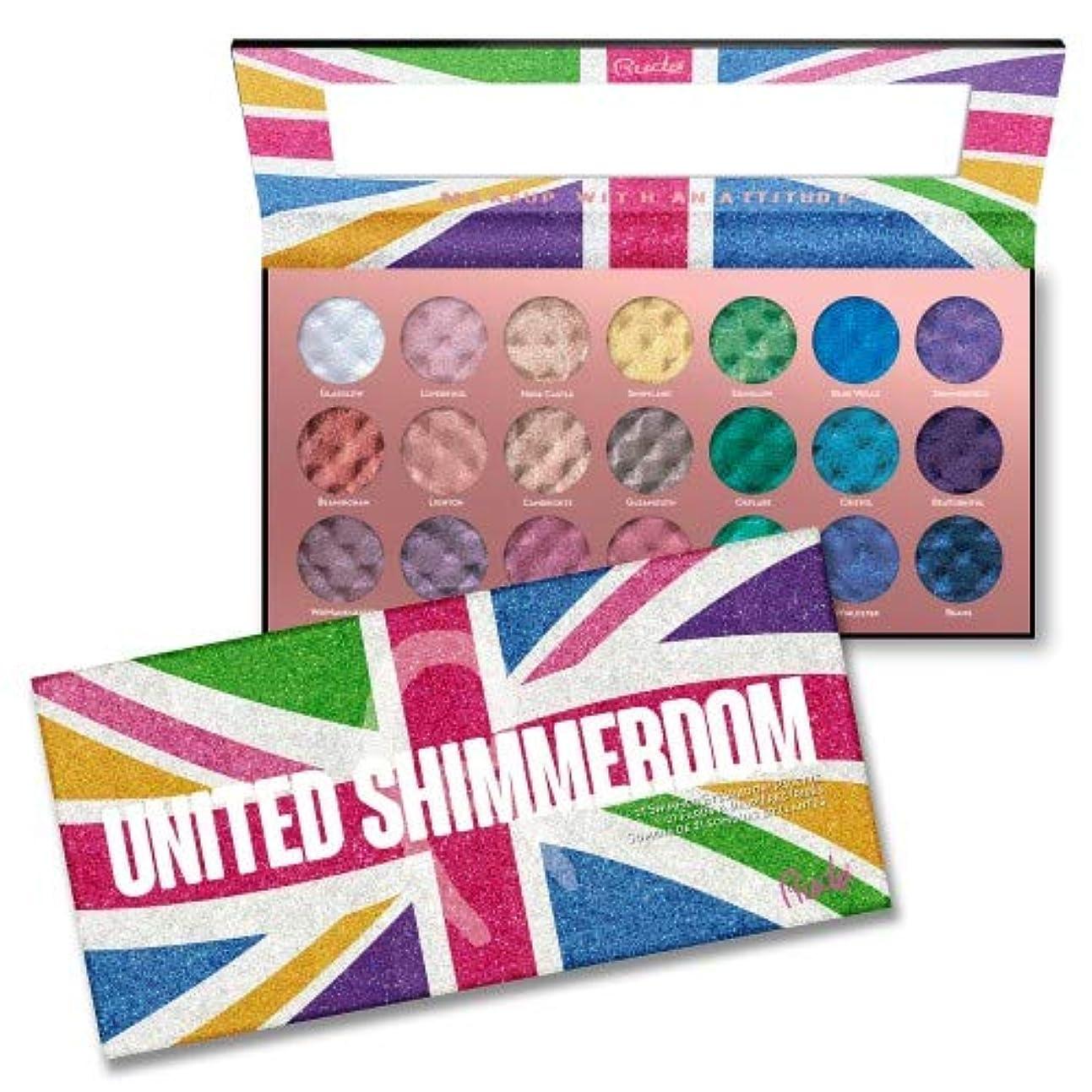 一掃するとにかく反対する(3 Pack) RUDE United Shimmerdom - 21 Shimmer Eyeshadow Palette (並行輸入品)
