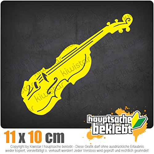 KIWISTAR Geige - Violine - Musik IN 15 Farben - Neon + Chrom! Sticker Aufkleber