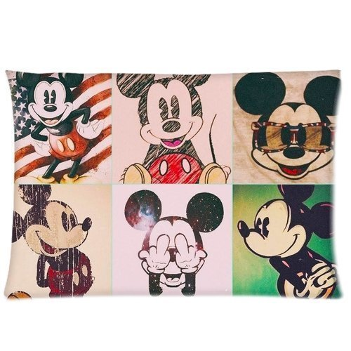 Shop Custom Cotton & Polyester Soft Pillow Case Cover Mickey Mouse Vintage Pillowcases Children/Kids Favorite Fundas para Almohada (40cmx60cm)