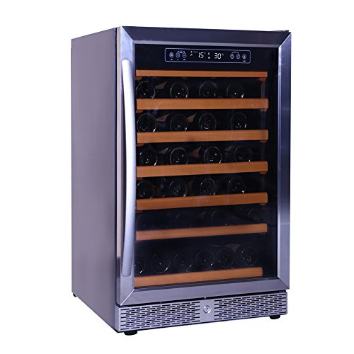 Smad 46 Bottle Wine Cooler Refrigerator Single Zone Compressor Wine Cooler Chiller Digital Display