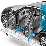 Protector Umbrales Puertas de Coche para Golf 7 (VII) AU/5G I 2012-2019 - Accesorios vinilos para Puertas Adhesivo Transparente
