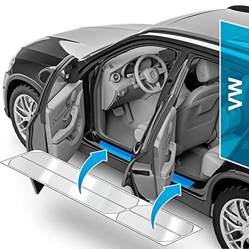 Auto Einstiegsleisten Schutz für Golf 7 (VII) AU/5G I 2012-2019 - Schutzfolie Autotür Zubehör Zierleisten Lackschutzfolie Transparent