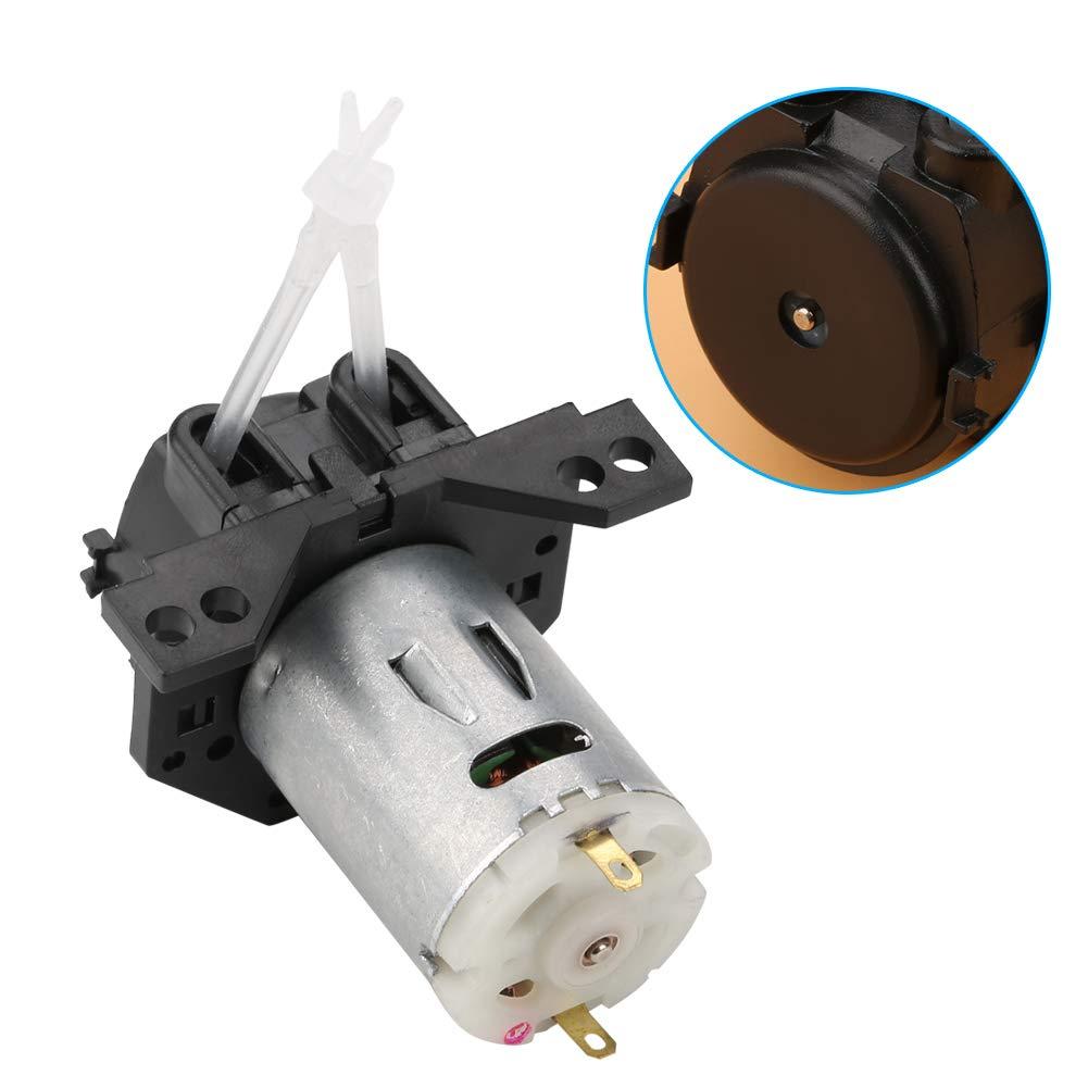 Bomba dosificadora de acuario Bomba dosificadora química Bomba peristáltica Bomba dosificadora DC12V / 24V para análisis bioquímico de laboratorio experimental de acuario(negro, 12V 1 * 3)