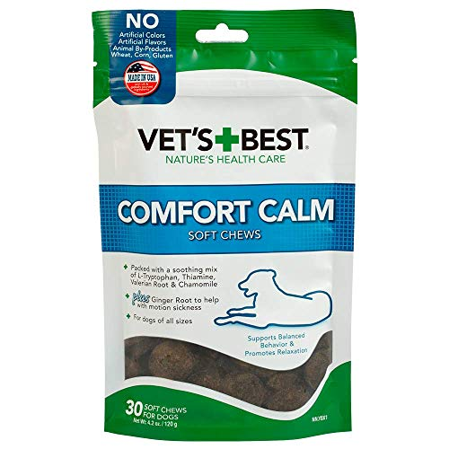 Vet's Best Comfort Calm Calming Soft Chews Dog Supplements | Dog Calming Aid Supports Dog Balances Behavior | Promotes Relaxation | 30 Day Supply