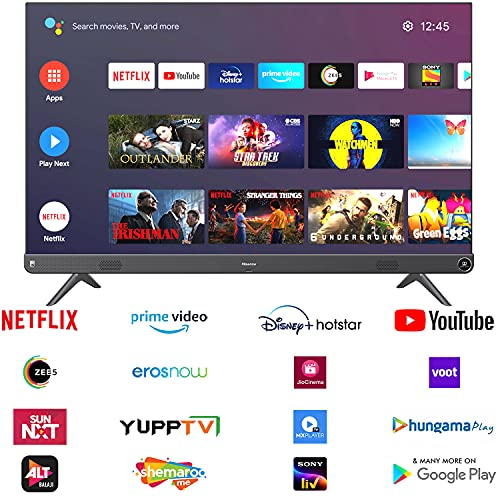 Hisense 126 cm (50 inches) 4K Ultra HD Smart Certified Android LED TV 50A73F (Metal Gray) (2021 Model) | With 102W JBL Speakers